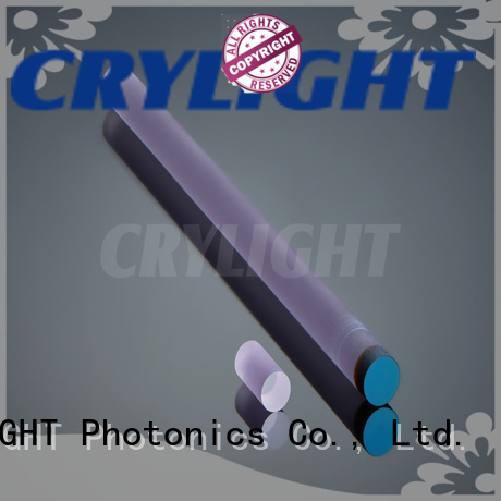 Crylight tisapphire Nd YAG crystal customized for industry