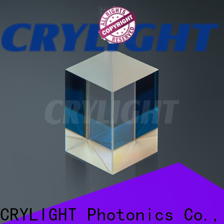 Crylight beam splitter cube personalized for industry