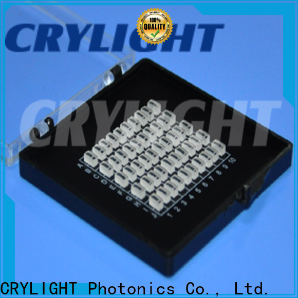 Crylight cylindrical micro lens series for acousto-optic